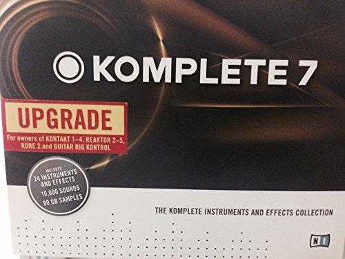 Komplete 7 Upgrade for Owners of Kontakt 1-4, Reaktor 2-5, Kore 2, and Guitar Rig Kontrol