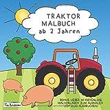 Traktor Malbuch Ab 2 Jahren Fahrzeuge Auf Dem Bauernhof Zum