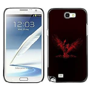 LECELL -- Funda protectora / Cubierta / Piel For Samsung Galaxy Note 2 N7100 -- Veni Vidi Vici Angel --