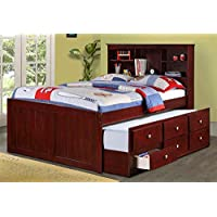 Donco Kids 689471 Full Trundle Bed in Dark Cappuccino, Brown