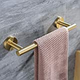 Hoooh 12-Inch Towel Bar Stainless Steel Hand Towel Holder for Bathroom or Kitchen Wall Mount