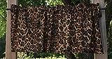Cheap Cheetah Jaguar Big Cat Animal Skin Print Safari Wildlife Jungle Brown Handcrafted Curtain Valance