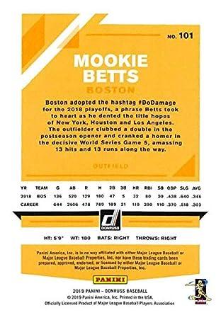 Amazon.com: 2019 Donruss Baseball #101 Mookie Betts Boston ...