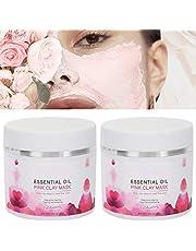 Kleimasker, diepreinigend gezichtsmasker, 50 g x 2 stuks Kleimasker Exfoliërend gezichtsmasker Diepe reiniging Hydraterende verstevigende gezichtshuidmasker