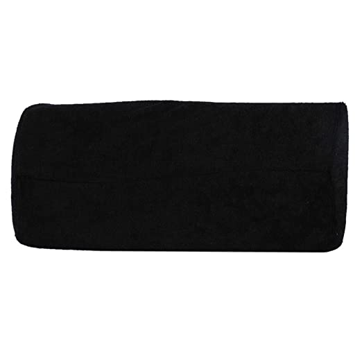 10 Colors Salon Hand Rest Cushion Detachable Washable Nail Art Soft Sponge Pillow (Black)