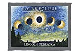 Lincoln, Nebraska - Solar Eclipse 2017 - Starry Night (60x80 Poly Fleece Thick Plush Blanket)