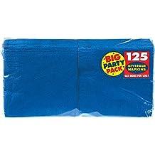 Big Party Pack Beverage Napkins 5-Inch, 125/Pkg, Bright Royal Blue