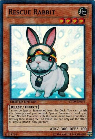 Yu-Gi-Oh! - Rescue Rabbit (CT09-EN015) - 2012 Collectors Tins - Limited Edition (Rescue Cat)