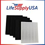 5 Pack Replacement HEPA Filter set for Winix Size 17 ( 113050 ) P150 and B151 by LifeSupplyUSA
