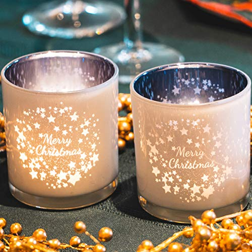 lEPECQ Christmas Votive Holders, 3.14