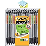 BIC Xtra Life Mechanical Pencil, Medium Point (0.7 mm), 40-Pack wtih 3 Cleaning Clothes