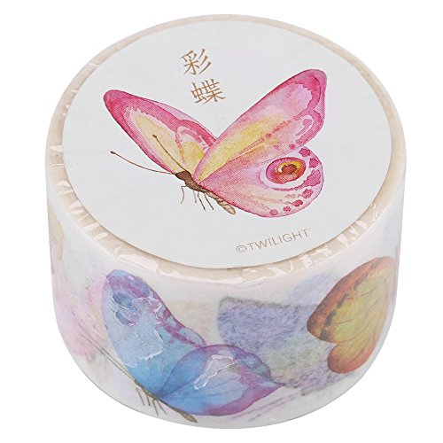 Decorative Washi Masking Tape For DIY Craft Collection Scrapbooking With Colorful Patterns(30mm × 8 m-butterflies)