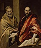 Oil Painting 'Greco, El_1587-1592_Sts Peter And Paul' 20 x 23 inch / 51 x 59 cm , on High Definition HD canvas prints is for Gifts And Home Theater, Living Room And Powder Room Decoration