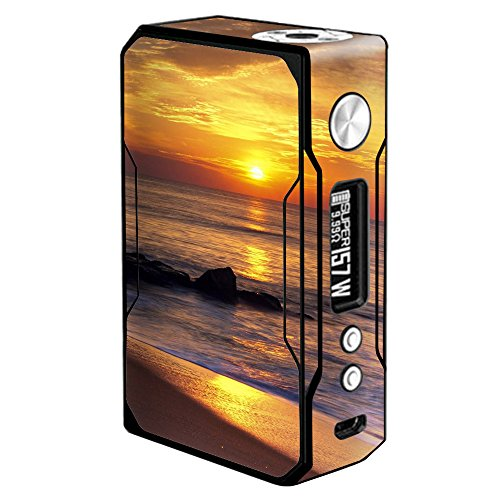 Sunrise Resin (Skin Decal Vinyl Wrap for Voopoo Drag 157W TC Resin/Reg. Vape Mod stickers skins cover/ Sunrise on the Coast)
