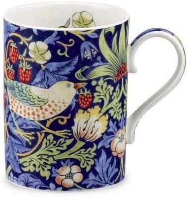 Gift Boxed Fine China William Morris Mug//Tea//Coffee Cup Blue Strawberry Thief