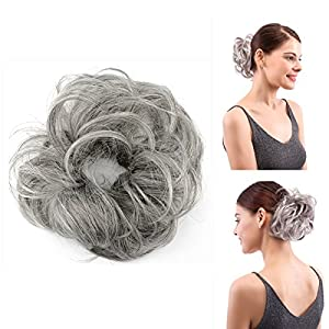 It's Fun And Easy To Wear Whenever You Are Short On Time Just pull your little ponytail through the center of the hair piece and blend it together for a natural messy bun that's nice and full. 1) This ponytail hairpiece attachment is very convenient ...