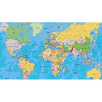NA Adult Jigsaw Puzzle 1000 Piece Wooden Puzzle Standard World Map for Teenagers and Adults,Very Good Educational Game(5FF0): Toys & Games