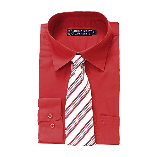Jacques Valmont Boys Long Sleeve Shirt with Tie and Accessories Multiple Colors