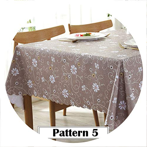 (God of Fortune Cartoon Animals Table Cloth Cover PVC Waterproof Flowers Cactus Tablecloths Background Cloth Home Decor Manteles toalha de mesa,Pattern 5,90x135cm)