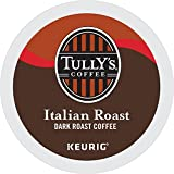 : Tully's Coffee Italian Dark Roast Keurig Single-Serve K-Cup Pods, Dark Roast Coffee, 72 Count (6 Boxes of 12 Pods)