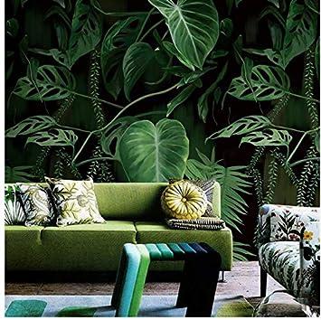 Yfxgstli Murales De Pared Plantas Verdes Imagen Mural De Papel De
