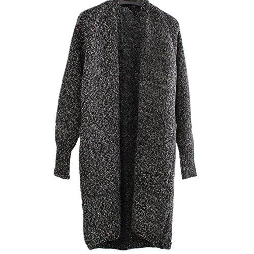 Long hibote Cardigan Veste Femme Sweat Outwear d'hiver SSpzq4