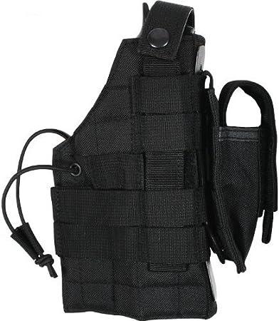 2 x New Airsoft MK23 USP Tactical Dropleg Pistol Holster Utility Pouch Nylon BK
