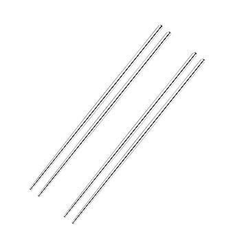 2 pares de palillos japoneses de acero inoxidable extra ...