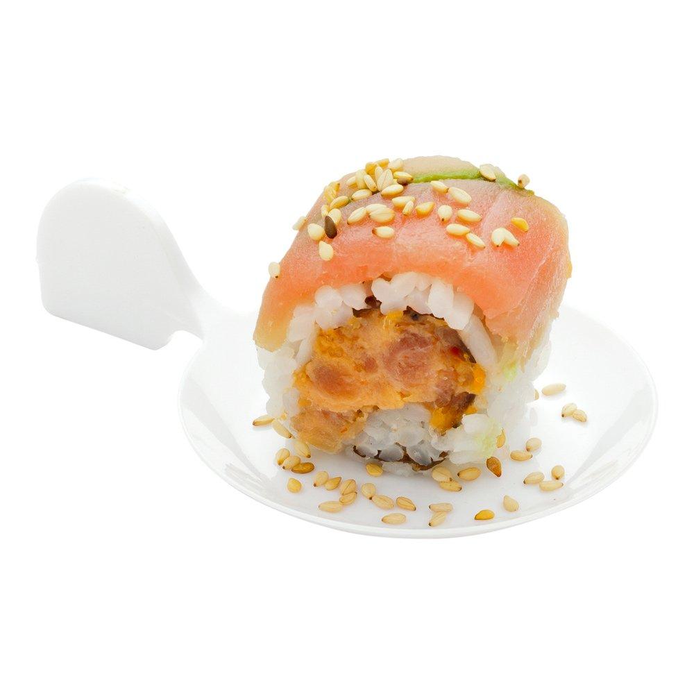 Fish Tasting Plate Black 100 count box Restaurantware RWP0142B