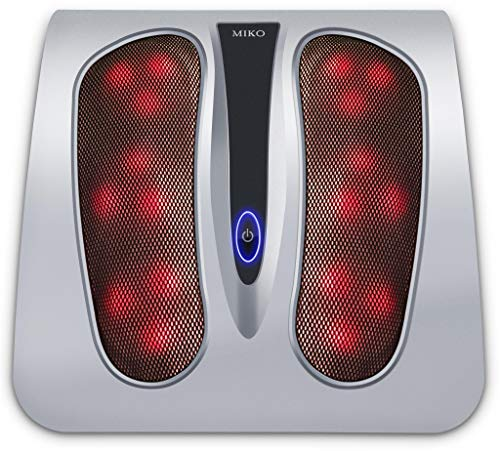 Miko Foot Massager with Shiatsu Settings, Deep-Kneading Functions, and Rotating Heat to Relieve Pain...