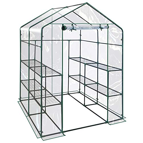 "BenefitUSA Outdoor Mini Walk-in Greenhouse for Plants/Flowers/Vegetables House Yard (PVC, 56""x56""x76.7"")"