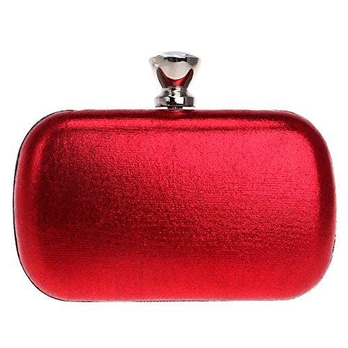 Wallet Bags Red Ladies Dress Bag Womens Wedding PU Clutch Chain Evening Purse IfOxAw