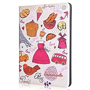 QYF The colorful world Pattern Leather Suitable for iPad 2/3/4