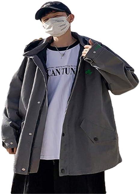 [ユケ二ー]ジャケット コート メンズ ゆったり 潮流 流行 コーディネート クール 無地 春秋 かっこいい ポッケト付き 学生 帽子 学院風