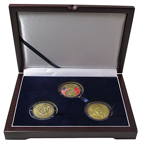 3 Challenge Coin / Large Capsule Box ...