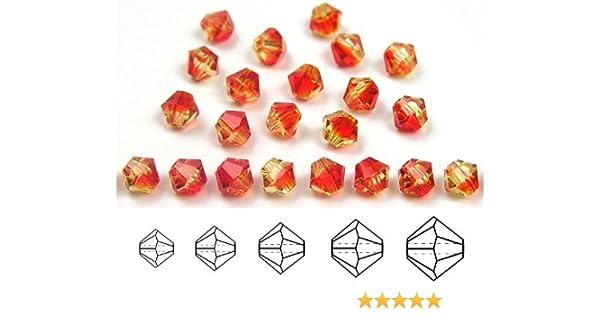 dark red Beads Preciosa Genuine Czech Round MC Faceted Crystals Siam 8mm