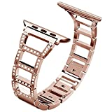 for Apple Watch Band 38mm,Adjustable Fashion iwatch Bands for Women,Replacement Metal Sport Strap for Iwatch Series 3 2 1,Nike+,Edition (38mm, Rose Gold)