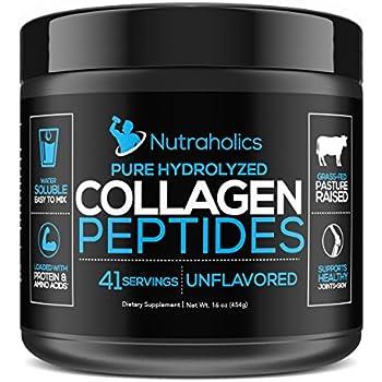 Amazon Com Collagen Peptides Hydrolyzed Powder 16 Oz
