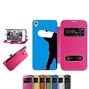 caselabdesigns Flip Carcasa Para Sony Xperia Z3funda Snowboard Boy D6683Fucsia–Funda protectora plegable de rosa/fucsia