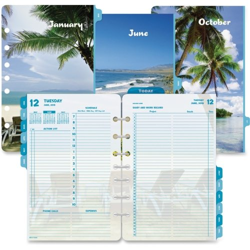 - Day-Timer Coastlines 2 Pages Per Day Daily Refill - Daily - 5.50