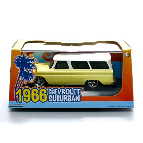 1966 CHEVROLET SUBURBAN (Yellow with White Roof) Limited Edition 2015 Greenlight Collectibles 1:43 Scale Die-Cast Vehicle