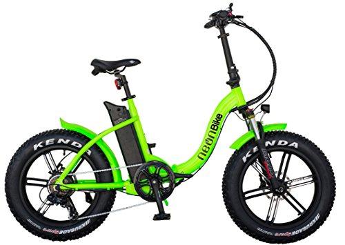 Neon Bike Plegable Bicicleta Electrica Gran Neumatico Fat 1 con Batería Samsung 350W,