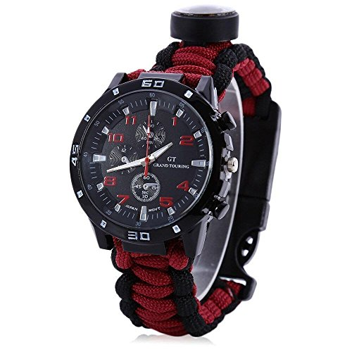 Yans Paracord Bracelet Compass Thermometer product image