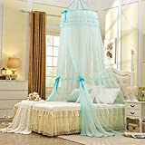 Largest Double Bed Canopy Mosquito Net for Girls Princess Bedroom Kids Children Room Bed Tent Light Blue Mosquito
