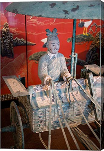 Replica Chariot, Imperial Burial site, Xian, China by Dave Bartruff/Danita Delimont Canvas Art Wall Picture, Gallery Wrap, 19 x 28 inches
