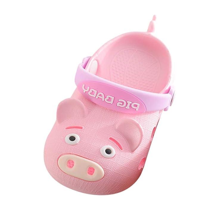 Oyedens Babyschuhe Sommer, Kinder Cartoon Schwein Strand Sandalen Baby Jungen Mädchen Rutschfeste Hausschuhe Schuhe Baotou Lö