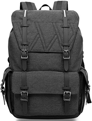 (KAKA Water Resistant Laptop Bag Anti-Theft Travel Bag Large Capacity Shoulder Daypack School Backpack Black)