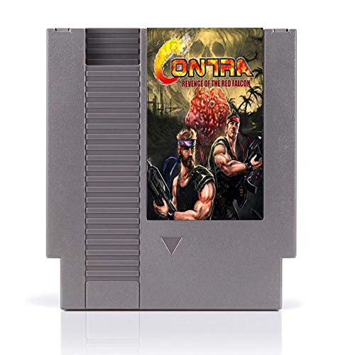 Video Game Card Contra Revenge of The Red Falcon 8 Bit Game Card for 72 Pins Game Players ()