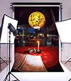 Laeacco 5X7ft Vinyl Photography Backdrop Romantic Table Evening Dinner Menu Cafes Red Tablecloth Candle Scene Photo Background Children Baby Adults Portraits Backdrop