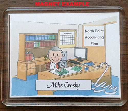 CPA Personalized Gift Custom Cartoon Print 8x10, 9x12 Magnet or Keychain by giftsbyabigail (Image #3)